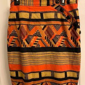 Tribal pattern skirt size 12 (seems smaller)